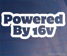 POWERED BY 16V Novedad 16 Valve Coche/Camioneta/Ventana/Parachoques Pegatina/