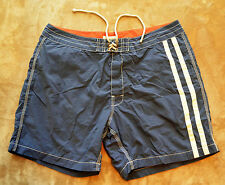 Men's J. Crew Blue Lined Board Shorts Classic J Crew EUC Boardshorts 38 Red Trim