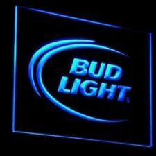 neon sign  bud light beer pub bar home man cave