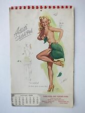 Full Year 1950 Pin Up Girl Calendar by Freeman Elliott Artists Sketch Pad