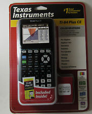 New Texas Instruments TI-84 PLUS CE Color Graphing SILVER EDITION COMPATIBLE