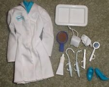 BARBIE DOLL CLOTHING - DENTIST UNIFORM DRESS, FACE MASK, SHOES & ACCESSORIES