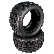 2pcs RC 1/10 Stone Patterns Rubber Tire Monster Truck Big Foot Truggy Black