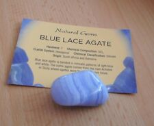 Blue Lace Agate Pocket Crystal 30mm - First Grade Blue Lace Agate Healing Stone