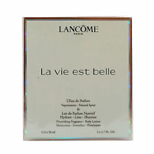 LANCOME LA VIE EST BELLE 2PC GIFT SET L'EAU DE PARFUM NATURAL SPRAY 50ML NIB