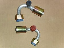 NEW BEADLOCK A/C FITTINGS,FEMALE ORING 130 DEGREE  #8 &10 WITH SERVICE PORT