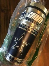 NFL Dallas Cowboys Travel Tumbler - Stainless Steel - Silver and Navy - 16oz