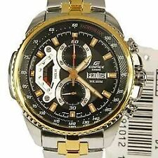 IMPORTED CASIO EDIFICE BLACK GOLD LUXURY MEN WRIST WATCH EF-558SG-1AVDF