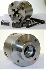80 mm 4 Jaw Self Centering Lathe Chuck threaded 1 1/8 x 12 tpi to suit Myford