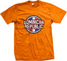 Dominican Republic Flag Map Outline República Dominicana Pride Mens T-shirt