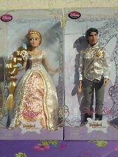 "Disney tangled ever after Rapunzel 12"" wedding doll set and Flynn Rider"