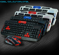 2.4 g hk8100 Inalámbrico Ergonómico Usb Gaming Keyboard & 6 Botones Mouse Óptico Set