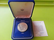 Malaysia 25th Anniversary of EPF $25 Proof coin With Box & Certificate