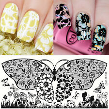 BORN PRETTY Rectangle Nail Art Stamp Plate Butterfly Design Image Template L007