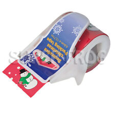 Christmas Tape Dispensers Roll Decorative Sticky Paper Masking Ribbon Adhesive
