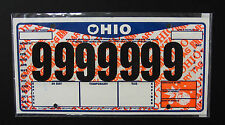 One(1) Temporary Tag License Plate Cover / Protector -Clear Plastic Sleve Jacket