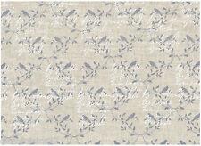 Tissu 100 % Lin - Patchwork, Cartonnage, Sac, Deco - Vendu par 20 cm - Ecriture