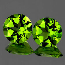 VVS~5.56CTS TOP PAIR! ROUND 9.0mm AAA GREEN PERIDOT NATURAL LOOSE GEMSTONE