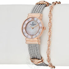 Charriol Womens 028PD1.540.552 St Tropez Mother of Pearl Diamond Dial Watch