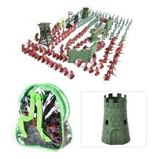 238pcs 1:72 4cm Plastic Military Toy Soldiers Army Men Action Figures Playset