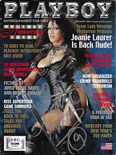 Chyna Signed January 2002 Playboy Magazine PSA/DNA WWE Diva Wrestling Autograph
