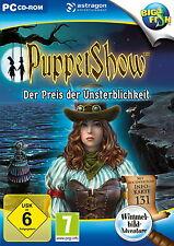 PUPPET SHOW * DER PREIS DER UNSTERBLICHKEIT *  WIMMELBILD-SPIEL  PC CD-ROM