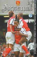 Arsenal v Shalke 04 - Champions League - 19/9/2001 - Football Programme