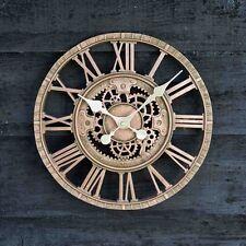 Reloj de Pared al Aire Libre Jardín Pantalla Bronce 30cm 12in números romanos mecánico COG