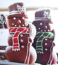WILLIAMS SONOMA 3D LARGE SNOWMAN CAKE PAN NON-STICK MOLD CHRISTMAS NEW