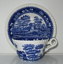 Spode Copeland Spode's Tower Blue Gadroon Cup and Saucer
