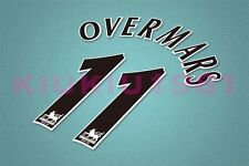 Arsenal Overmars #11 PREMIER LEAGUE 97-06 Black Name/Number Set