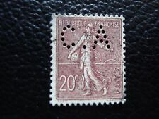 FRANCE - timbre yvert et tellier n° 131 obl (perfore) (L1) stamp french