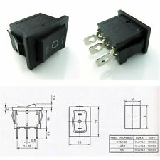 2 Pcs CESS? Hull Shape Snap-in KCD1-103 3 Pin ON-OFF-ON Switch
