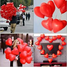 100 Pcs Red Love Heart Balloons Baby Shower Birthday Anniversary Wedding Party
