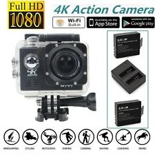 Full HD 4K@30fps SJ8000 170°WiFi Sports Action Camera+Dual Charger Battery Kits