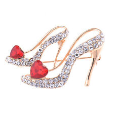 High-heeled shoes with Red Heart Wedding Bridal Party Daily Brooch Pin Gifts New