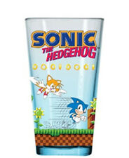 Sonic the Hedgehog Game Screen Pint Glass Cup Anime Manga NEW