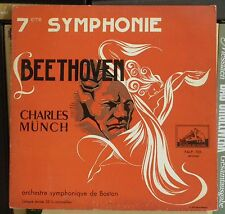 Beethoven Symph 7 Charles Münch Boston Falp 106 E.O. France red silver lettering