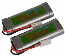 2x 7.2V 5300mAh Ni-MH Rechargeable Battery RC Tamiya USA
