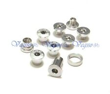 NEW KCNC AL7075 CRANK CHAINRING BOLTS SCREWS FOR CAMPAGNOLO CAMPY, SILVER