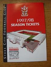 1997/1998 Stoke City: Official Season Tickets Brochure. Item In very good condit