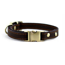 Leather Dog Collar Cat Puppy Collar Pet Supplies 24-36 CM For Small Dog