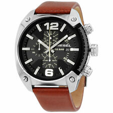 Diesel Brown Leather Strap 49mm Men's Watch DZ4296 NEW!  Low Inter shipping!!