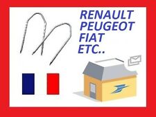 2 Clés clef d'extraction autoradio renault citroen smart fiat ford opel 4 trous