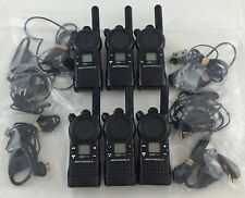 Motorola CLS1110 5-Mile 1-Channel UHF 2-Way Good Condition Lot of 6 w/ earpieces