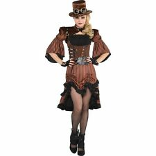 Adult Steamy Dreamy Costume Large 10-12 Fancy Dress Victorian Steampunk