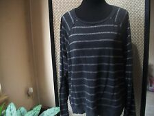 APT. 9 Ladies Sz XL Gray with Silver Long Sleeve Scoop Neck Shirt Top Free Ship