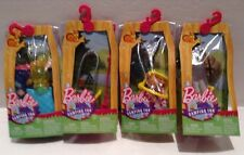 Lot Of 4 Barbie Camping Fun Accessories Sets Sleeping Bag Fishing Pole Campfire