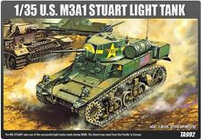 Academy Military 1/35 Plastic Model Kit M3A1 Stuart Light Tank 13269 NIB