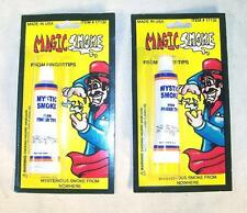 2 MAGICAL MYSTIC SMOKE TUBES magic from your finger tips magician tricks new